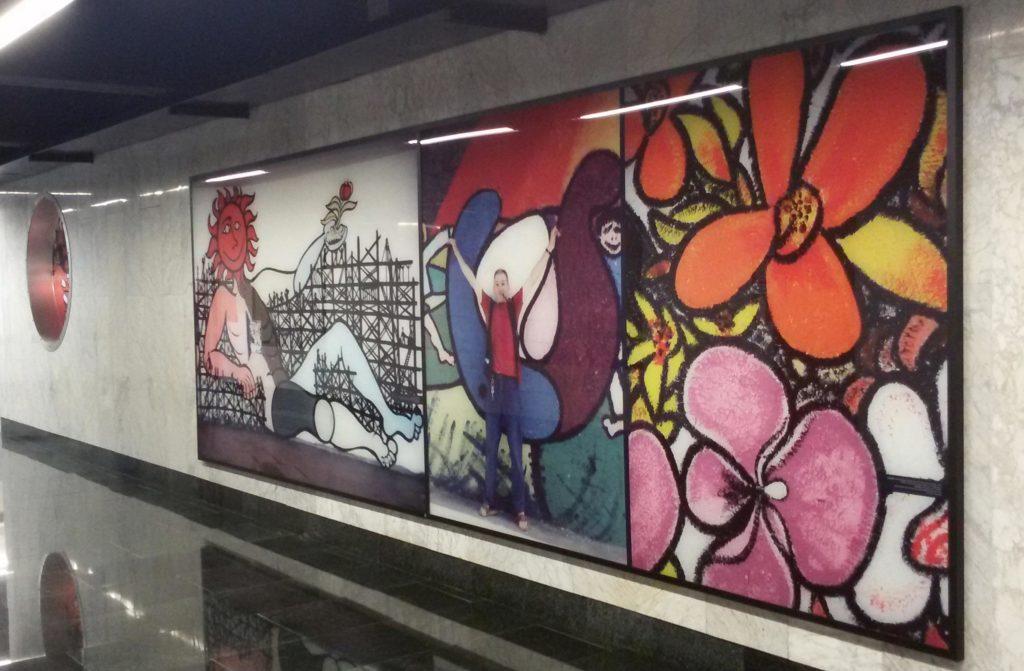 Risultati immagini per opere di felice pignataro stazione piscinola napoli